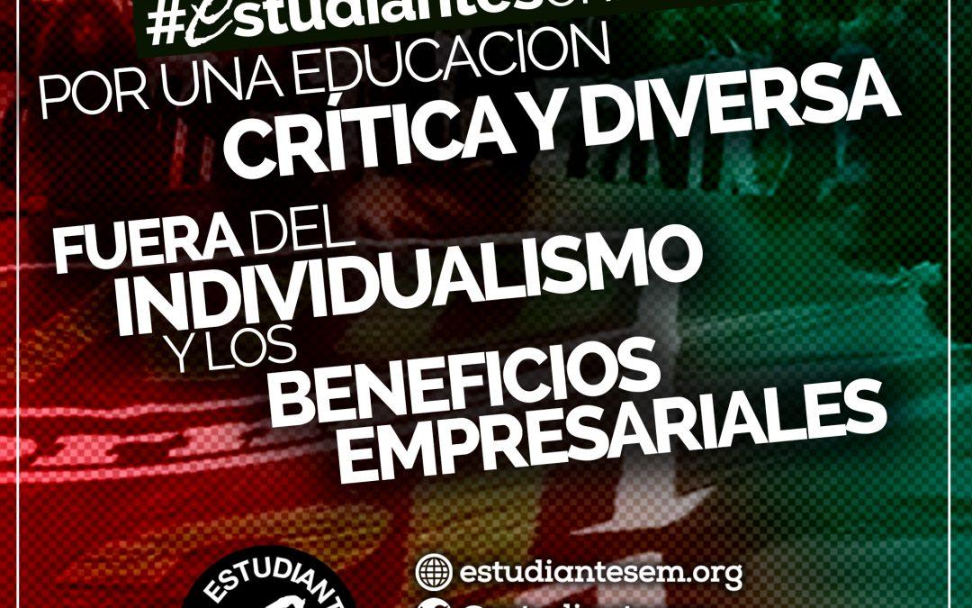 """Estudiantes en Movimiento presenta la campaña de inicio de curso: """"Por una educación pública, gratuita, feminista, crítica y diversa"""""""